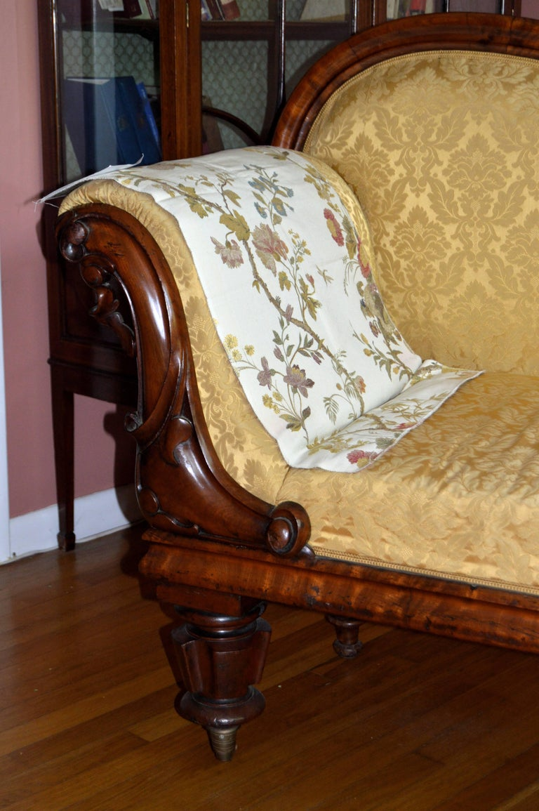 Carved Danish Biedermeier Chaise Longue For Sale 2