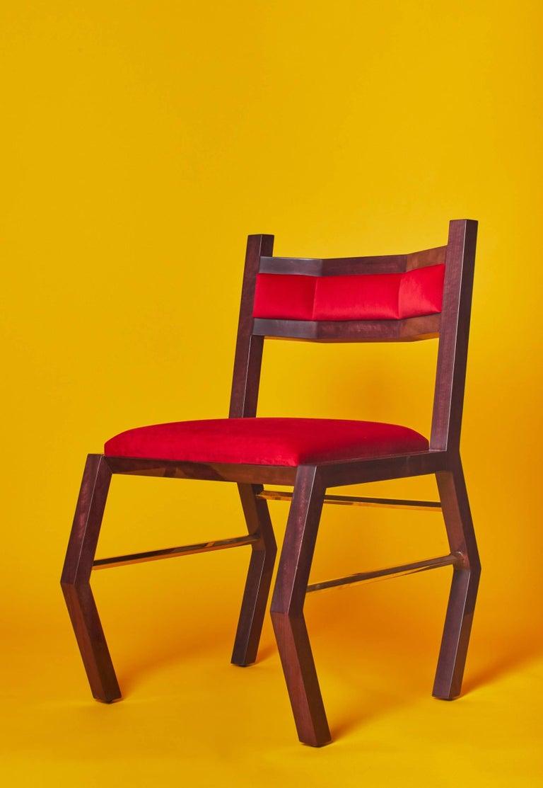 21st Century Custom Contemporary Solid Purple Heart Wood