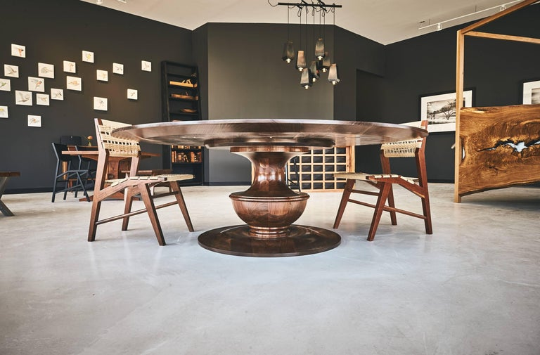 Barolo Table Handmade Cherry Wood Round Top Foyer Dining Or - Handmade conference table