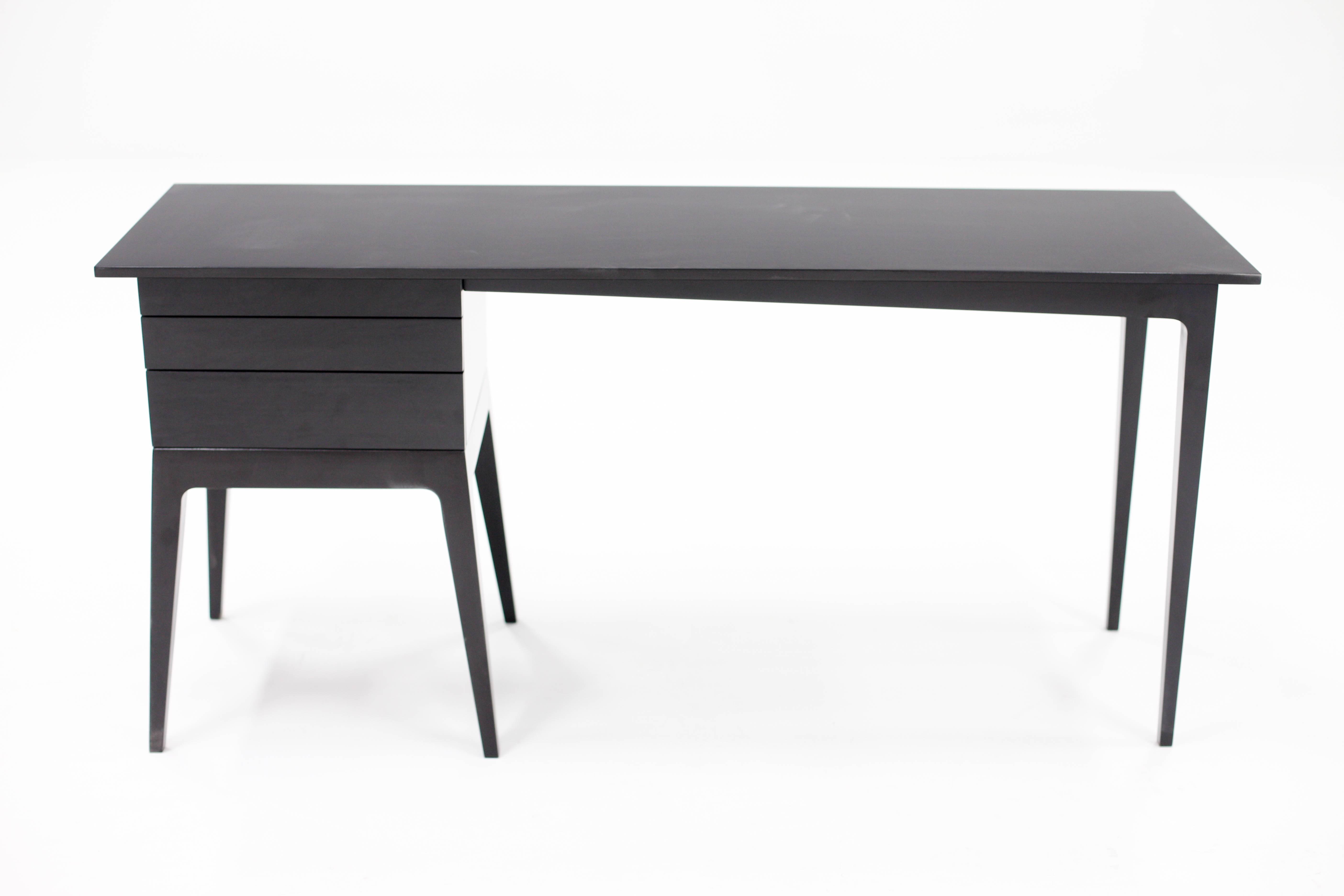 malabar wood writing desk minimalist contemporary mid century design rh 1stdibs com