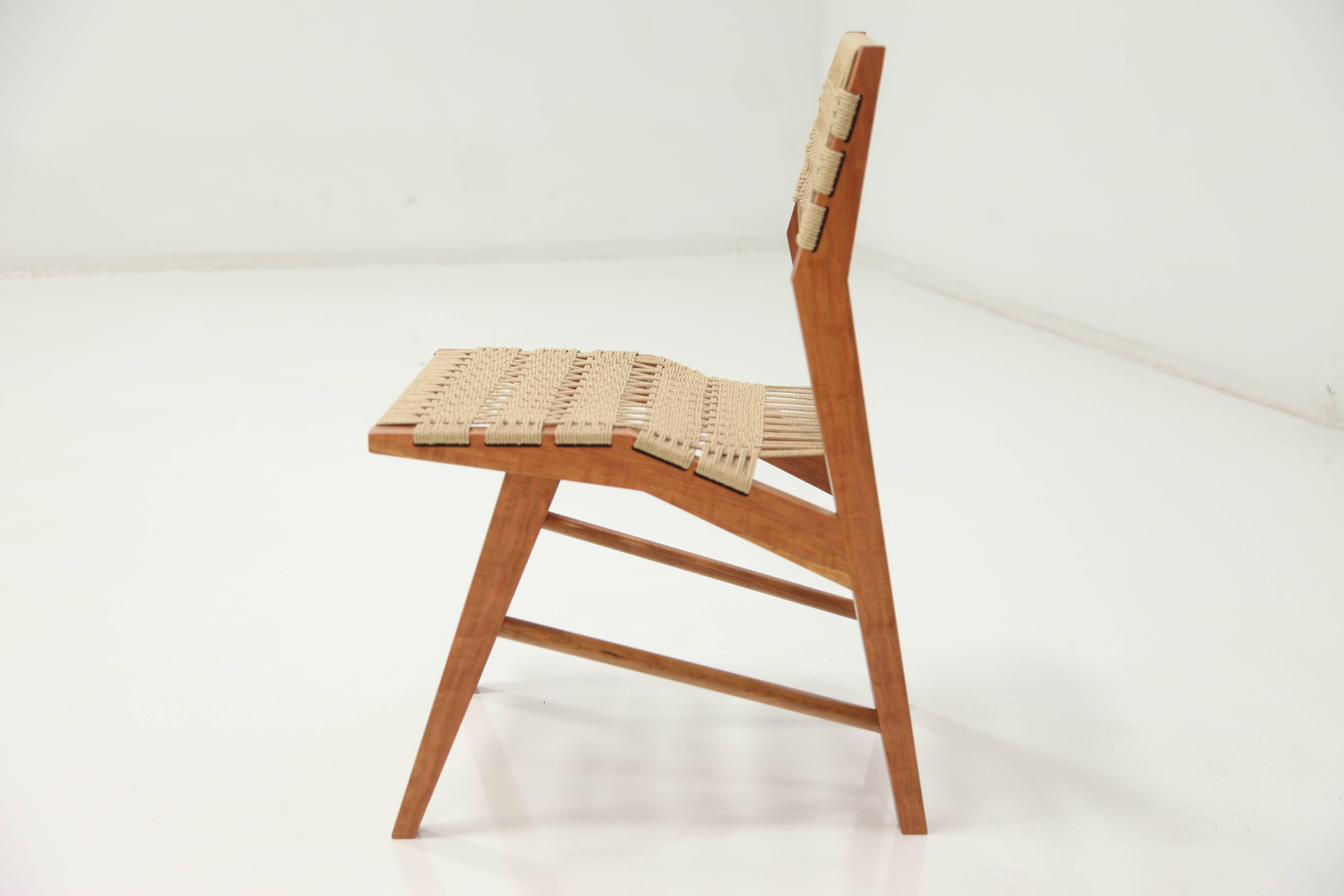 Hyde Wood Dining Chair With Midcentury Modern Influence U0026 Hand Woven Danish  Cord In New Condition