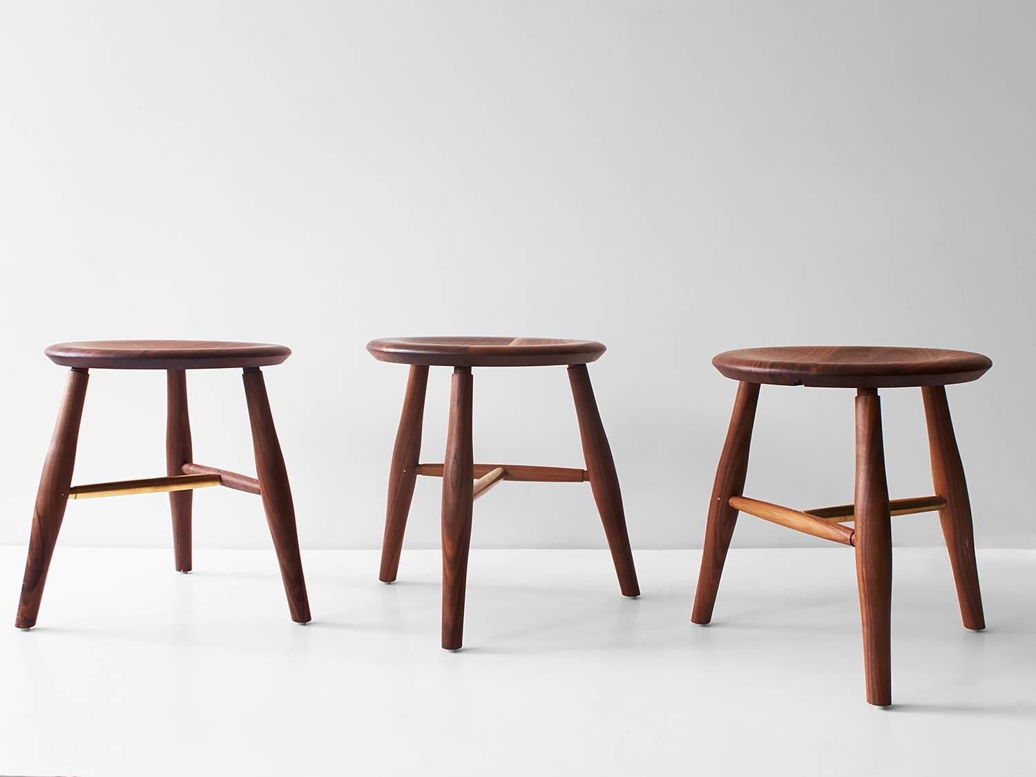 The Swell Stool Is A Turned And Carved Dining Height Stool With A  Comfortable 16