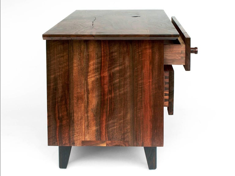 Contemporary Spring Side Cabinet in Domestic Hardwoods For Sale