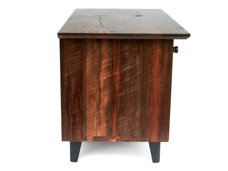 Brass Spring Side Cabinet in Domestic Hardwoods For Sale