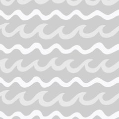 Swell Screen Printed Wallpaper in Color Cloud 'White and Pale Grey on Mid Grey'