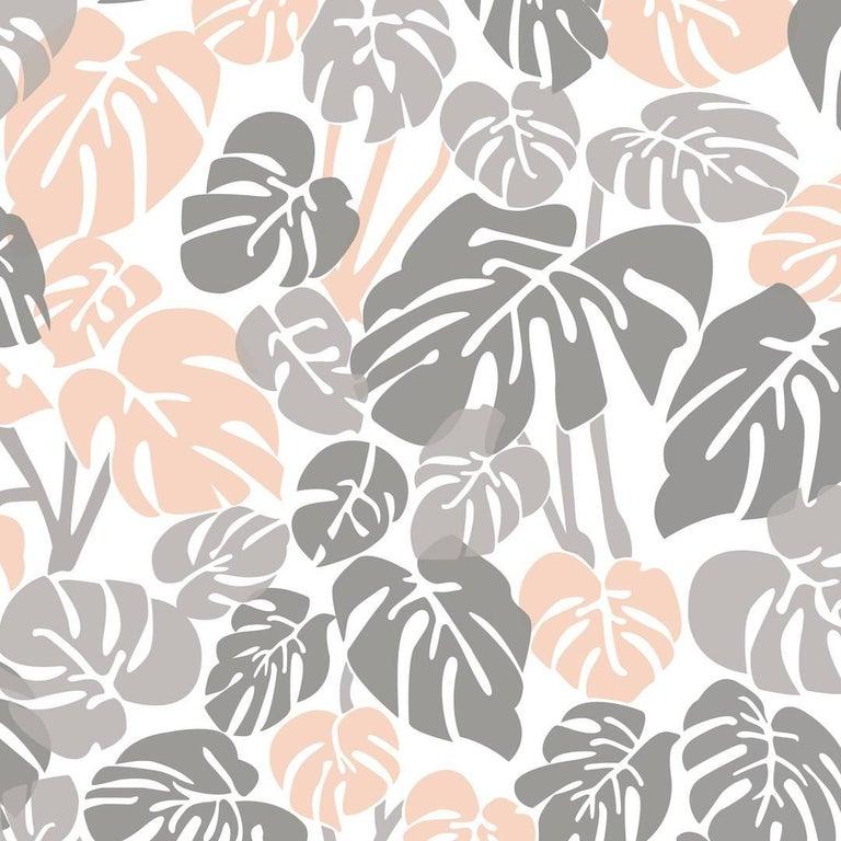 Deliciosa Designer Wallpaper In Color Quartz Pink And Gray On Soft White