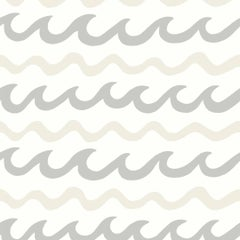 Swell Screen Printed Wallpaper in Color Coconuts 'Neutrals on Soft White'