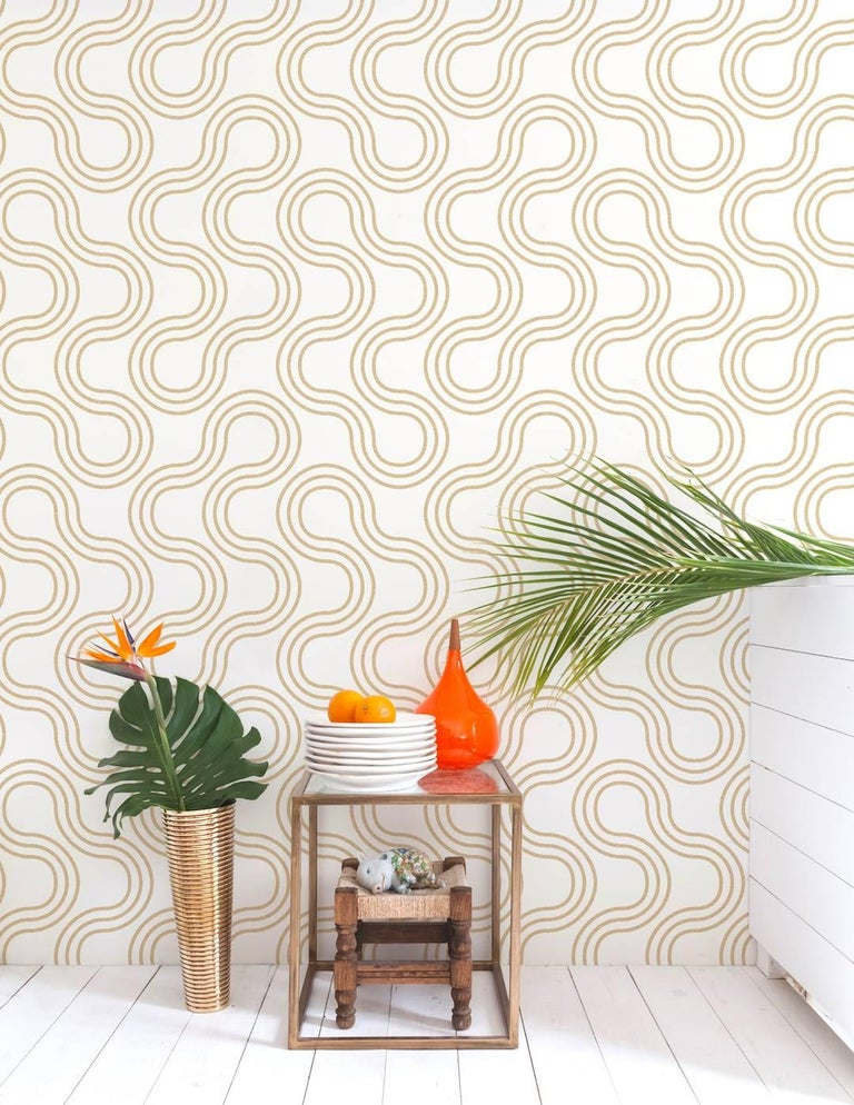 This oversized sexy 1960s geometric adds mod flair to your space.  Samples are available for $18 including US shipping, please message us to purchase.   Printing: Screen-printed by hand (minimum order and setup fees apply). Material: FSC-certified