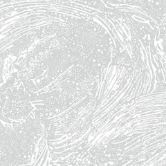 Cosmic Splash Designer Wallpaper in Color Luna 'Soft White on Pale Grey'