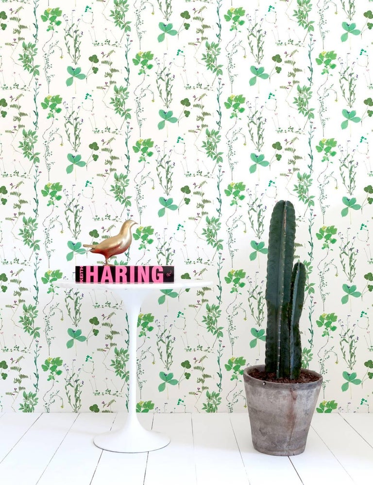 Founder of Ivana Helsinki, Paola Suhonen pressed flowers in a book, creating Herbario years later. Aimée worked with these elements to create a myriad of colorful wallpapers and fabrics to use in the home.  Samples are available for $18 including