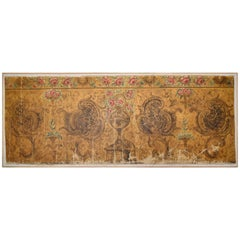 18th Century Baroque Oil on Canvas Wall Decoration from a Palace Wall Decoration