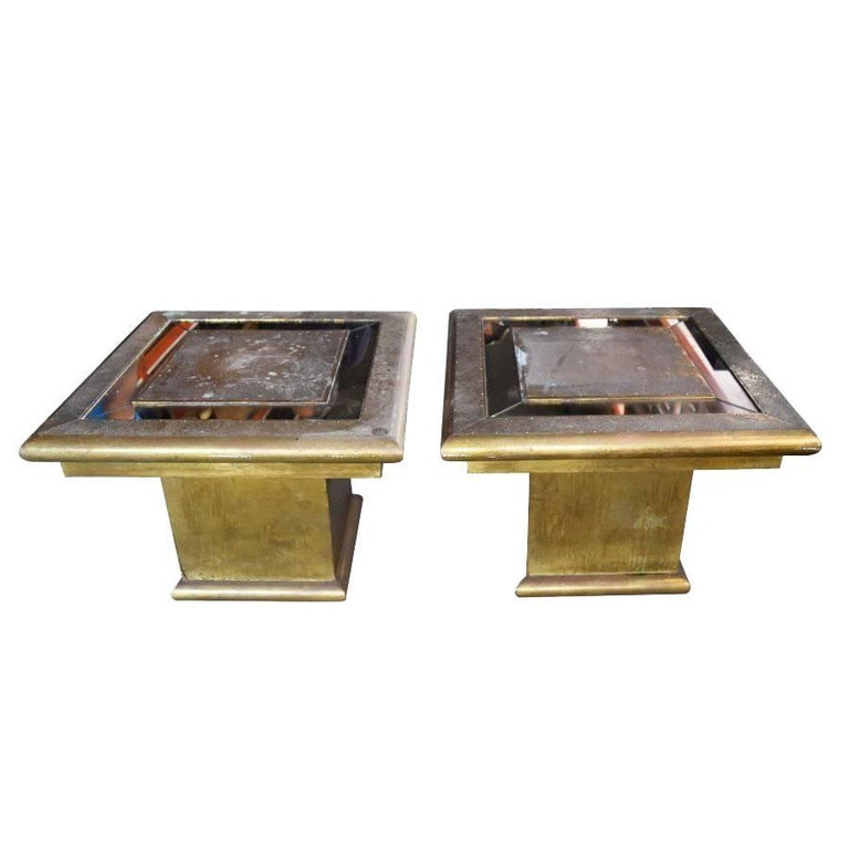 1970s Rodolfo Dubarry Signed Pair of Tables For Sale