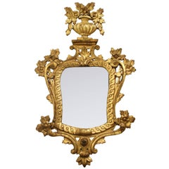 Spanish, 18th Century Charles IV of Spain Gold Gilded Neoclassical Mirror