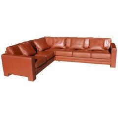 1990 Hans Kaufeld Leather Sofa, Austrian