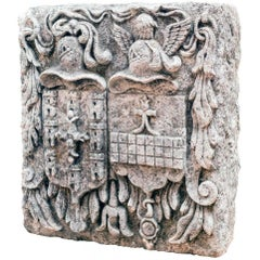 18th Century Spanish Stone carved Coat of Arms