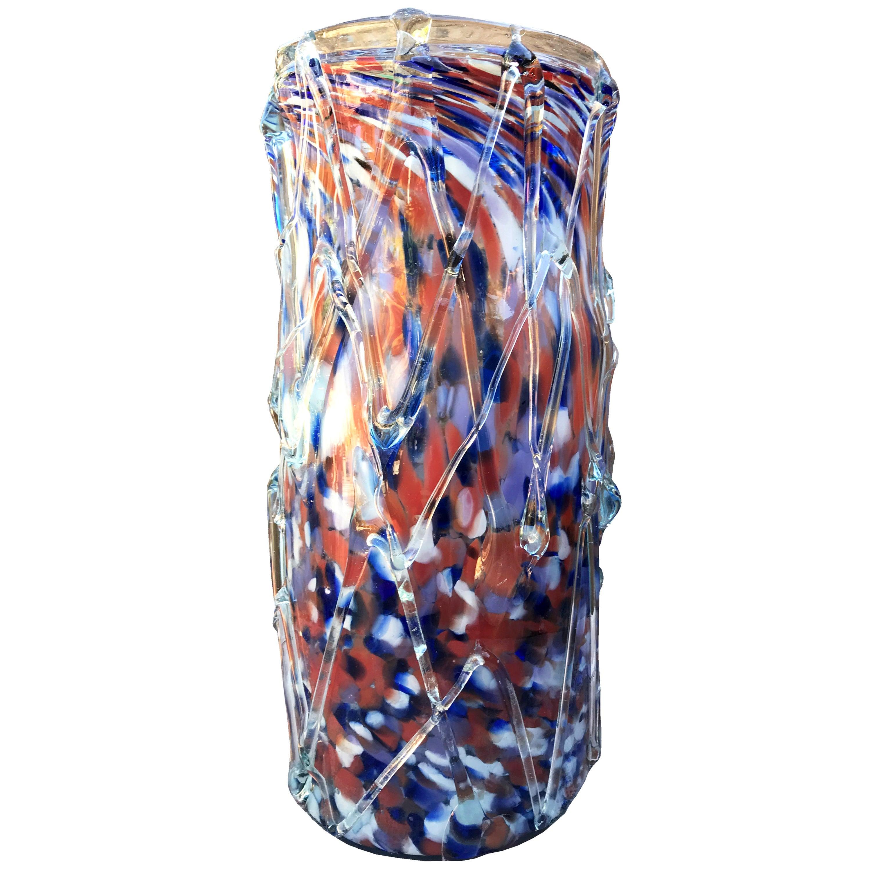 1970s Italian Murano Colored Glass Vase