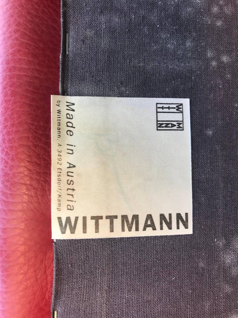 20th Century 1980s Wittmann's Austrian Red Leather Chairs For Sale