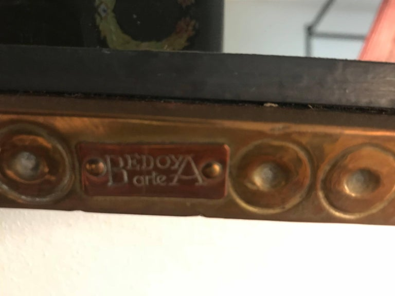 Spanish, 1980s Bedoya Arte Signed Octagonal Mirror For Sale 1