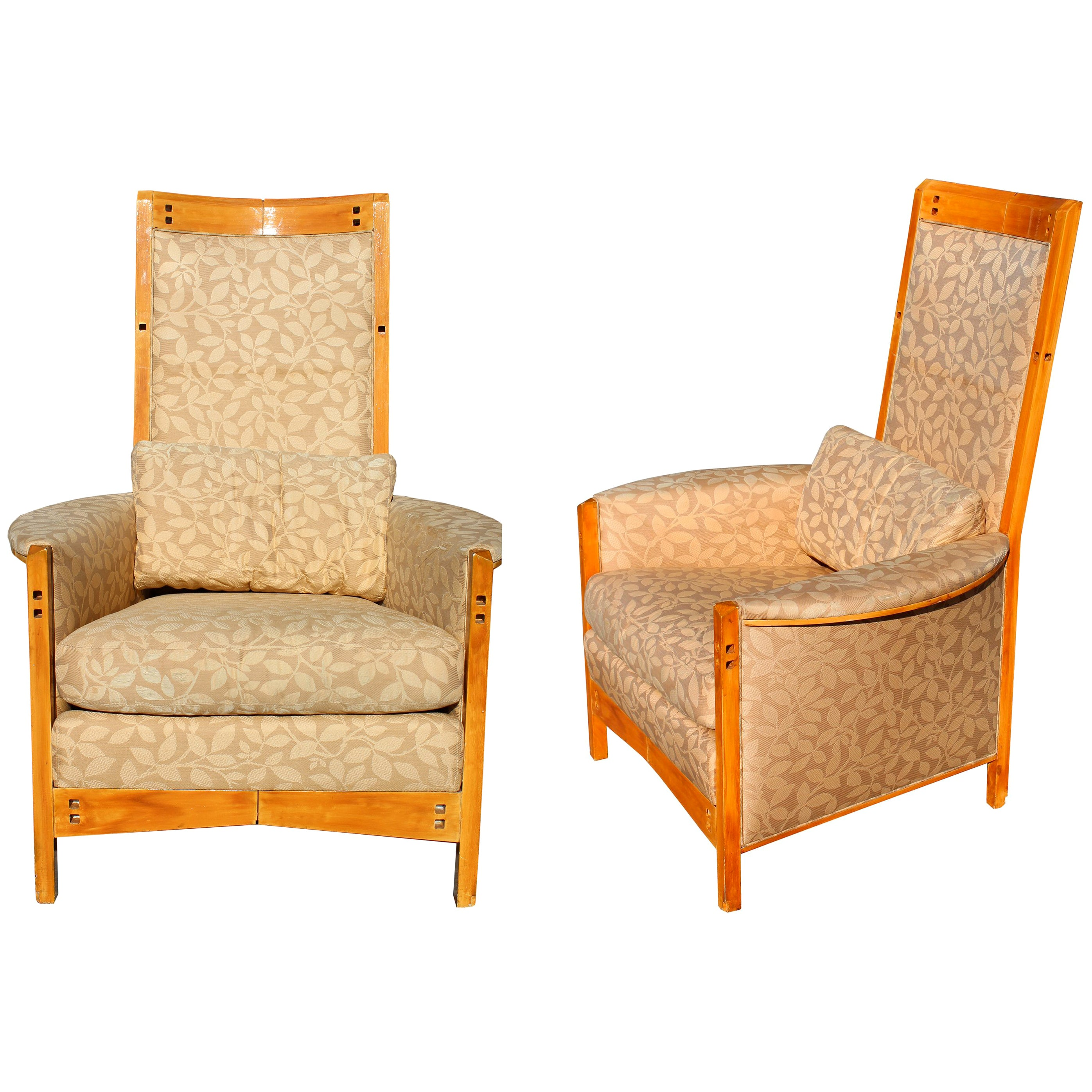 20th Century Pair of Girogetti Armchairs by Umberto Asnago