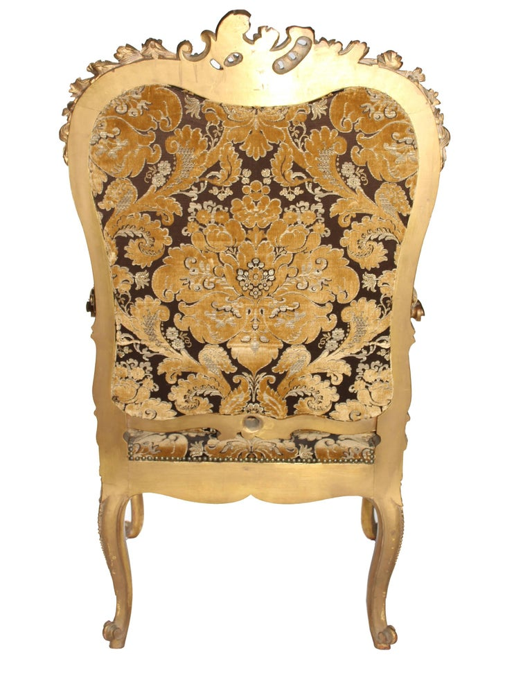 19th Century French Baroque Style Upholstered Armchair For ...
