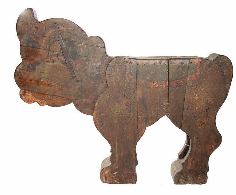 Spanish, 1850s Fair Carousel Wooden Dog For Sale 2