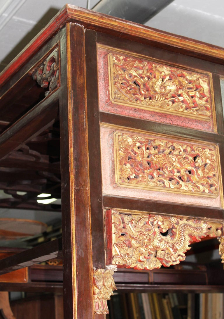 19th Century Chinese Canopy Wedding Bed For Sale 2