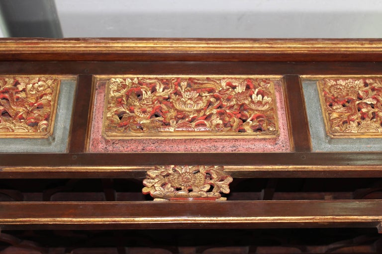19th Century Chinese Canopy Wedding Bed For Sale 5