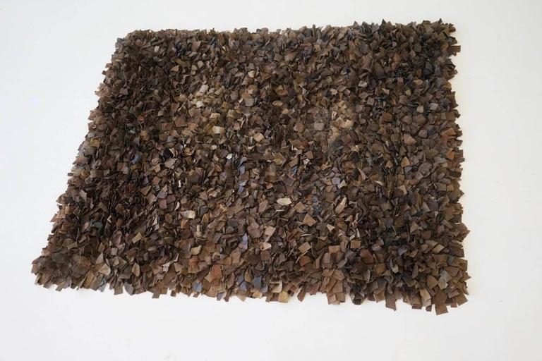 Mid-20th Century Hand-Loomed Leather Carpet by Jack Lenor Larsen for Harry Flitterman For Sale