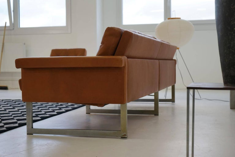 Four seat sofa and set of three chairs 1960s at 1stdibs for Couch 60 jahre