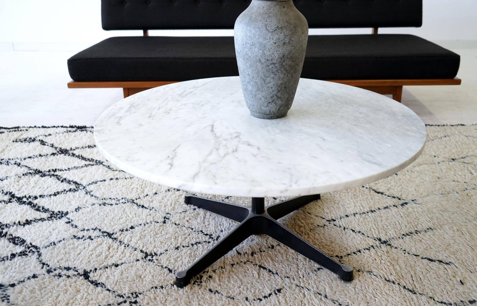 Charles Ray Eames Marble Coffee Side Table Aluminium Group Couch Table 2