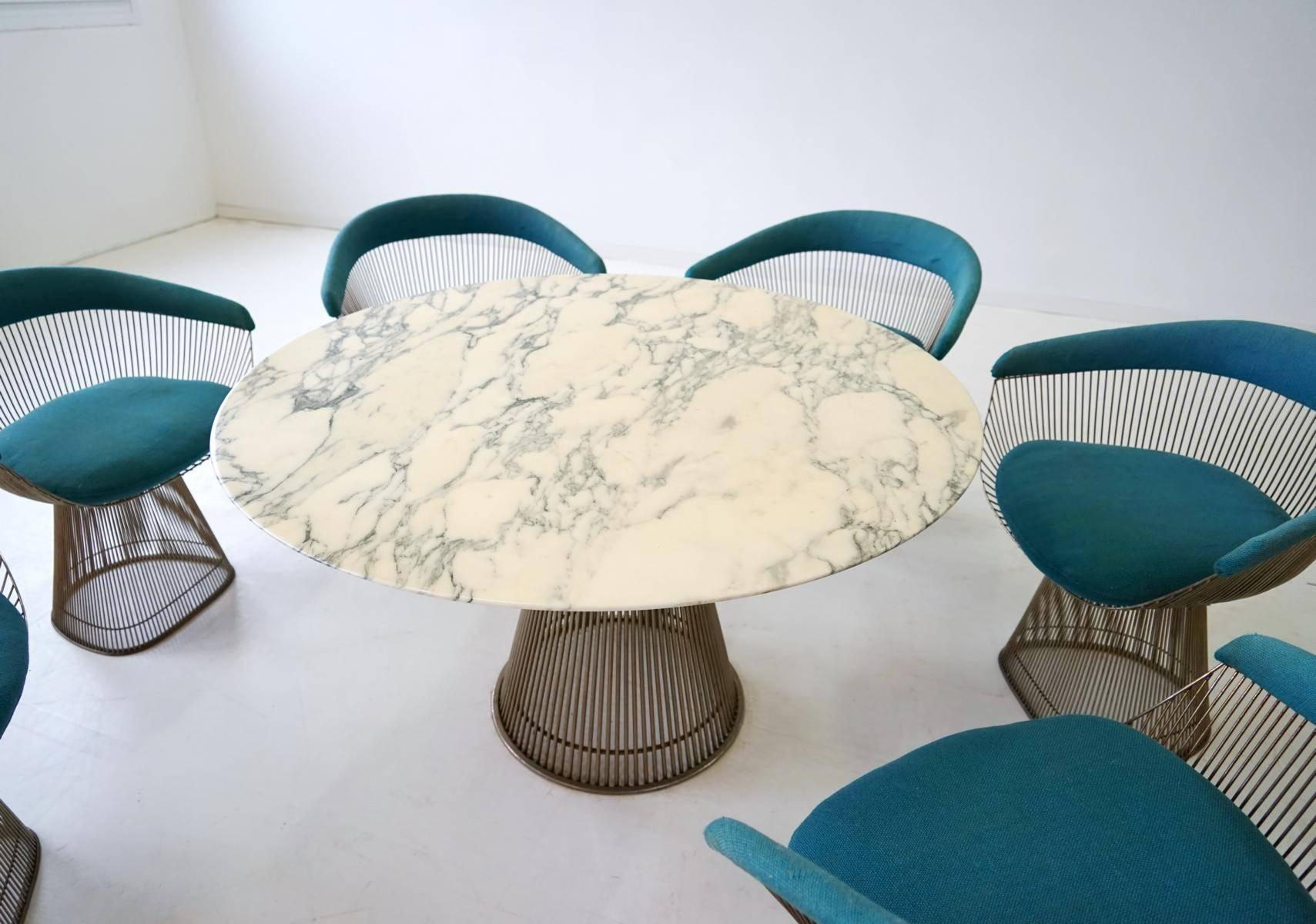 ed5b9ff3c6aa Set of Dining Table and Six Side Chair by Warren Platner Knoll  International 1960s at 1stdibs