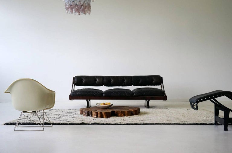 Sormani Songia GS 195 Leather Sofa Daybed For Sale 5