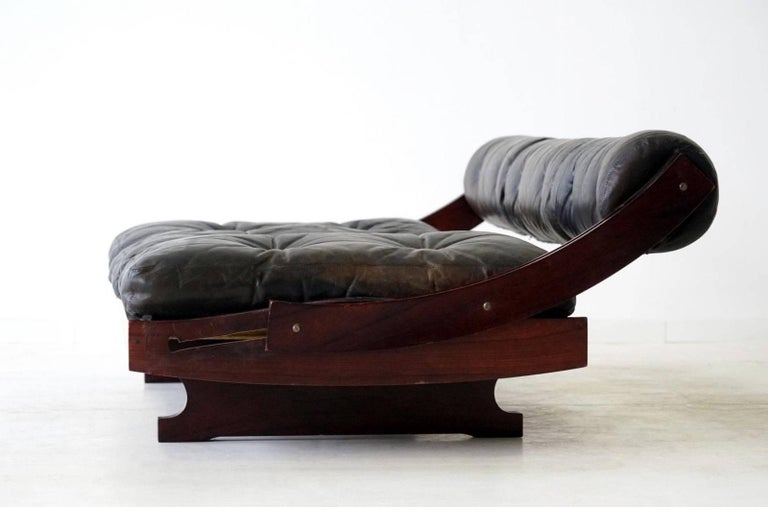 Mid-20th Century Sormani Songia GS 195 Leather Sofa Daybed For Sale
