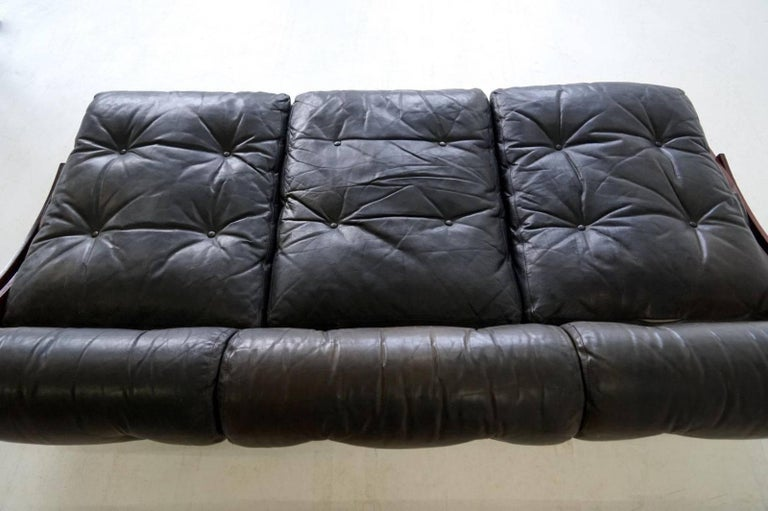 Sormani Songia GS 195 Leather Sofa Daybed For Sale 3