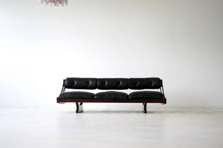 Mid-Century Modern Sormani Songia GS 195 Leather Sofa Daybed For Sale