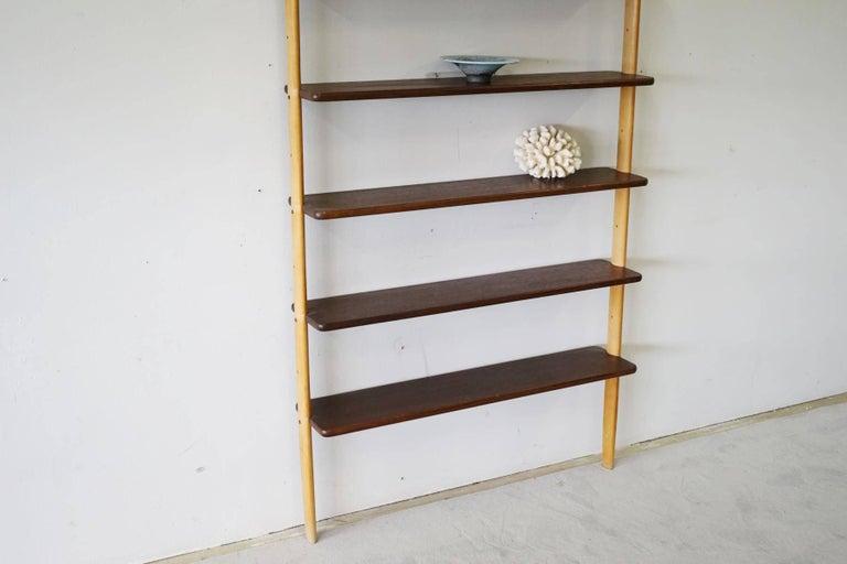 Rare Midcentury Teak Wall Unit Shelf System, 1960s 8