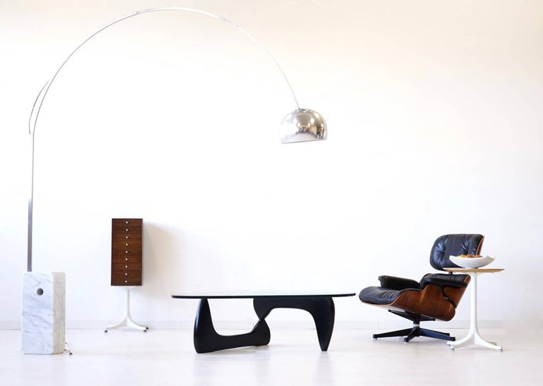 Noguchi Herman Miller sofa couch side coffee glass table, 1960s