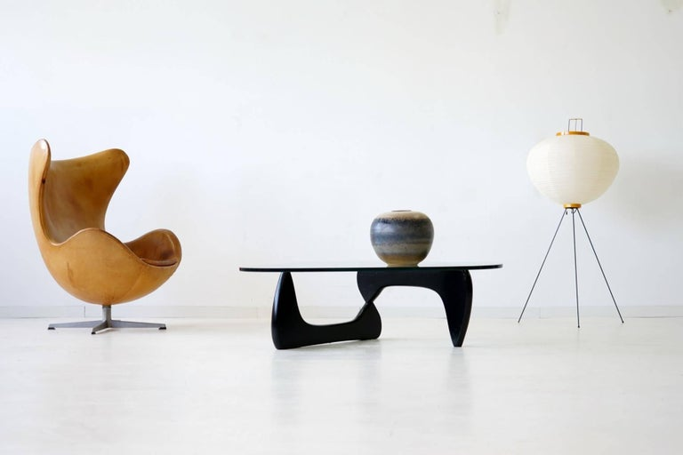 Noguchi Herman Miller Sofa Couch Side Coffee Glass Table, 1960s For Sale 1