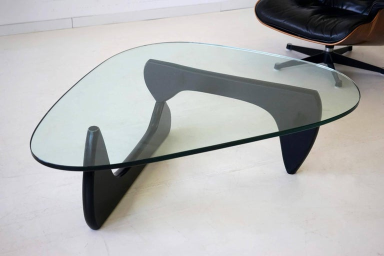 Mid-20th Century Noguchi Herman Miller Sofa Couch Side Coffee Glass Table, 1960s For Sale