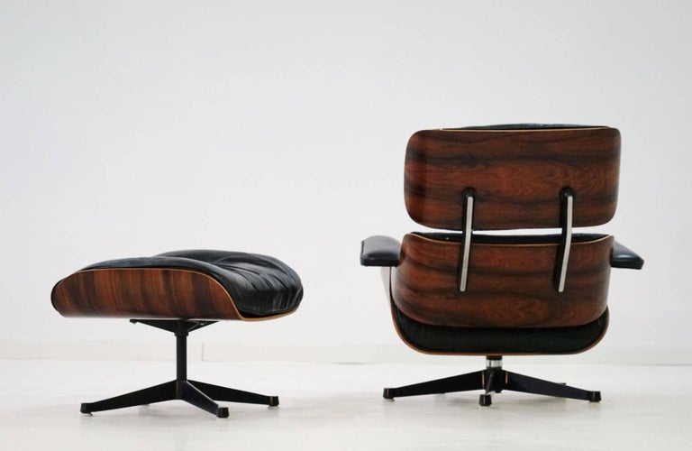 Original lounge chair and ottoman charles eames herman for Eames lounge sessel nachbau