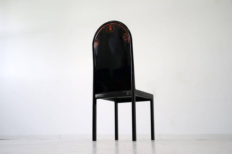 German Limited Edition Screen Chair by Bjorn Wiinblad for Rosenthal, 1970s For Sale 2