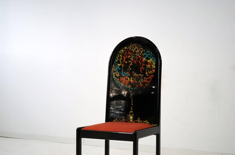 German Limited Edition Screen Chair by Bjorn Wiinblad for Rosenthal, 1970s For Sale 1