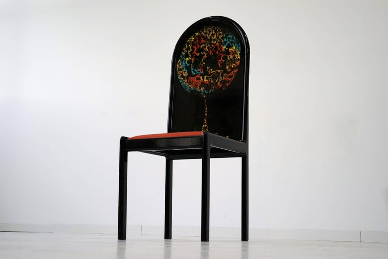 German Limited Edition Screen Chair by Bjorn Wiinblad for Rosenthal, 1970s For Sale 3