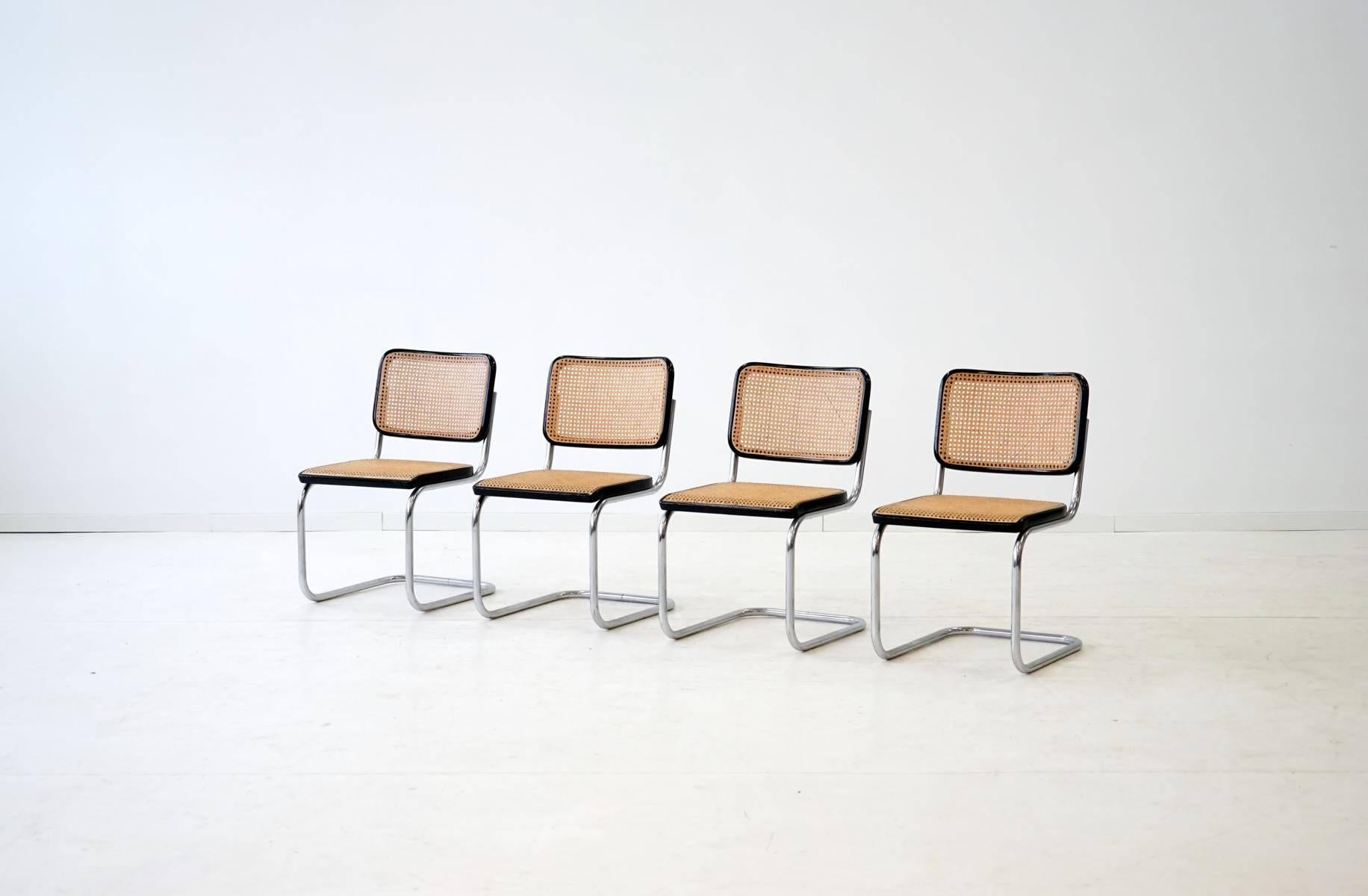 Set of Four S 32 Cantilever Chair by Marcel Breuer Mart Stam for Thonet 1920s at 1stdibs  sc 1 st  1stDibs & Set of Four S 32 Cantilever Chair by Marcel Breuer Mart Stam for ...