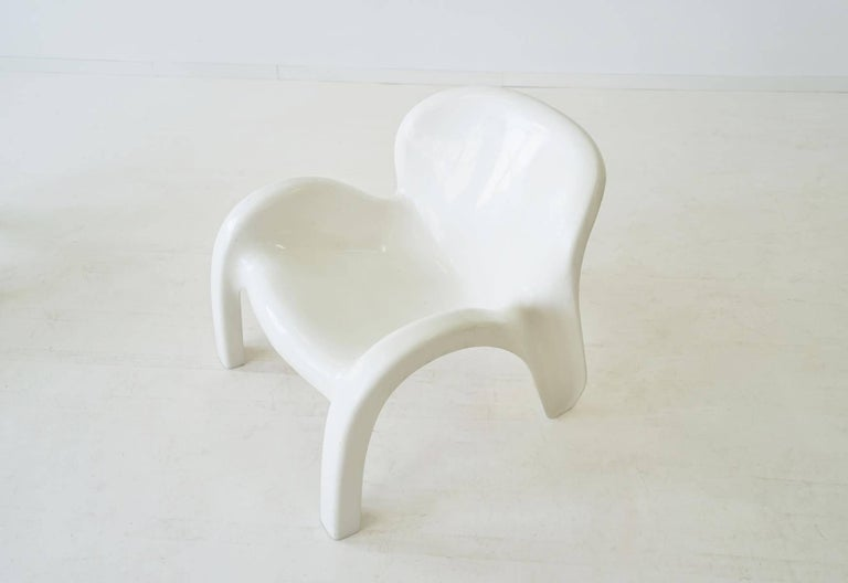 Fiberglass Set of Two Lounge Chairs GN2 by Peter Ghyczy for Reuter´s Form + Life Collection For Sale