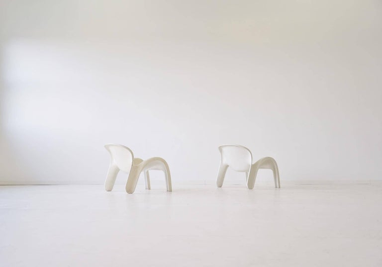 Set of Two Lounge Chairs GN2 by Peter Ghyczy for Reuter´s Form + Life Collection In Good Condition For Sale In Greven, DE