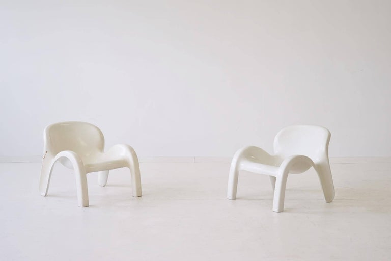 Set of Two Lounge Chairs GN2 by Peter Ghyczy for Reuter´s Form + Life Collection For Sale 3