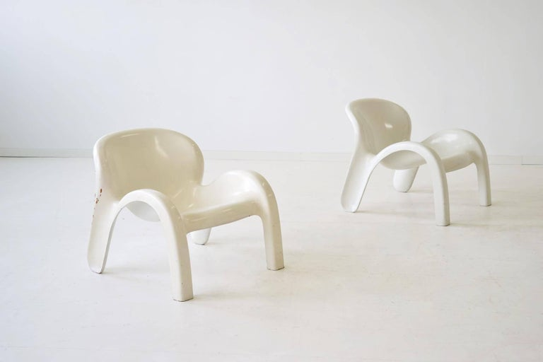 German Set of Two Lounge Chairs GN2 by Peter Ghyczy for Reuter´s Form + Life Collection For Sale