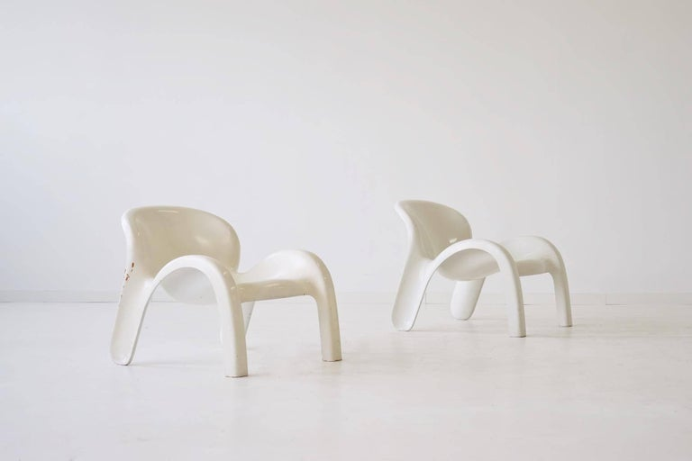 Mid-Century Modern Set of Two Lounge Chairs GN2 by Peter Ghyczy for Reuter´s Form + Life Collection For Sale