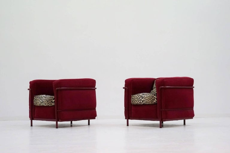 Set Of Two Original Le Corbusier Lc 2 Easy Chair Special
